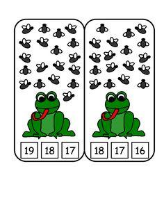 Fun children's learning activities, including printable templates, for preschool, kindergarten and elementary school kids. Frog Theme Preschool, Frog Theme Classroom, Frog Activities, Numbers Preschool, Kids Learning Activities, Preschool Learning, Kindergarten Activities, Math For Kids, Montessori