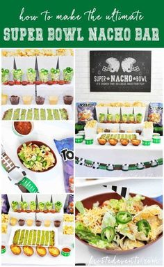 Super Bowl Party Food Ideas- How to Make a Super Bowl Nacho Bar, snackstadium and football theme party food via /frostedevents/