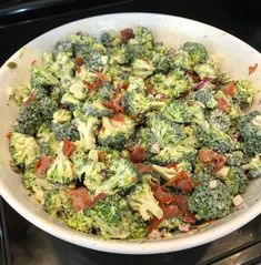 Famous Broccoli Salad - Lick Your Plate Fresh Broccoli, Broccoli Salad, Paleo Whole 30, Whole 30 Recipes, Whole 30 Meal Plan, Bacon Salad, Salad Ingredients, Stew, A Food