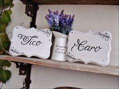 Set de placas personalizáveis para decoração de casamento