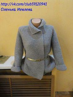 Пальто спицами (реглан) как у Бородиной   Вязание крючком и спицами. Рукоделие.