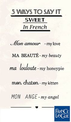 French sweet sayings #sweetwords #french #love