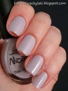 """Nicole by OPI in """"Am I Making Myself Claire?"""" from the Modern Family collection. Lavender-tinted neutral. Gorgeous color."""