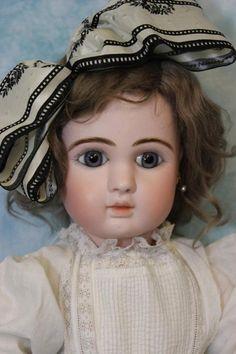 "Superb 24"" Antique J Steiner Paris Fre A 17 French Bisque Doll c1890 Marked Body"
