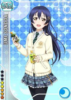 Umi Sonoda - Love Live [Cards] - Manga y anime en Taringa! Anime Girl Cute, Anime Love, Anime Girls, Anime Manga, Anime Art, Anime Music, Umi Love Live, Chibi, Festival Games