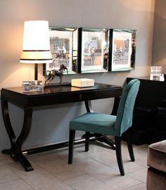 Desk: Heritage of Selva, Chair: Lauren of Casamilano , Lamp: Audrey von Contardi and Box: Rochenhaut Ralph Lauren Home