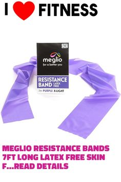 Meglio Resistance Bands 7ft Long Latex Free Skin Friendly ?? Exercise Workout Bands for Physical Therapy, Pilates Stretching and Home Workouts ... (This is an affiliate link)