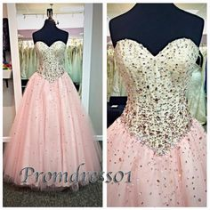 Pink sweetheart empire high waistline ball gown, sweetheart prom dress, puffy dress for teens, 2016 occasion dress from #promdress01 #promdress www.promdress01.c... #coniefox #2016prom