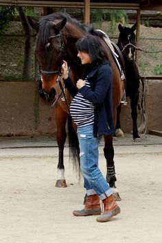 there is something about being pregs and riding