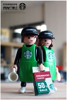 Like Starbucks like playmiblie this is for you Starbucks Taiwan, Nerf Toys, Playmobil Toys, Doll Toys, Dolls, Super Cool Stuff, Designer Toys, Jouer, Lego City