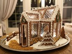 Christmas Gingerbread House, Christmas Holidays, Christmas Decorations, Xmas, Gingerbread Houses, Cookie Designs, Tis The Season, Holiday Crafts, My Recipes