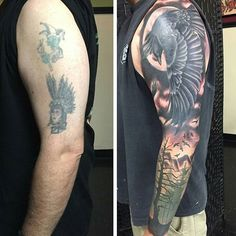 Have an old tattoo you'd like to cover... THE SKIES THE LIMIT Incredible cover…