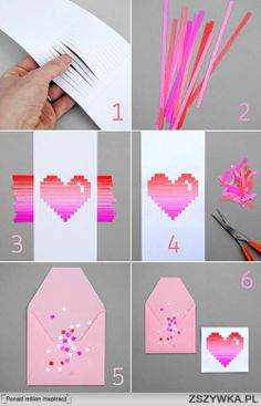 Cut lines on a piece of paper. Use construction paper and cut it into thin strips. Stick the thin strips in the lines you made on the piece of paper. Make it into any design you'd like!