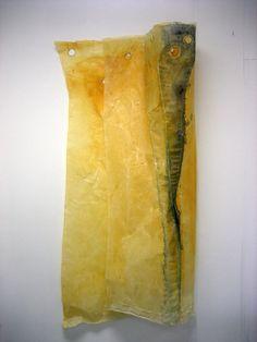 Waxed Cloth Muslin and Eyelets - Debbie Lyddon