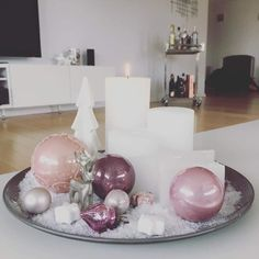 Christmas Decoration & Christmas decoration & Pink & White & Whiteliving & Interior Artificial fir tree as Christmas decoration? A synthetic Christmas Tree or even a real one? Lovers o post Christmas Decoration Rose Gold Christmas Decorations, Christmas Arrangements, New Years Decorations, Christmas Centerpieces, Holiday Decor, Christmas Night, Noel Christmas, Christmas 2019, White Christmas