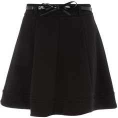 Dorothy Perkins Skater style skirt ($22) ❤ liked on Polyvore featuring skirts, bottoms, black, saias, knee length skater skirt, skater skirt, dorothy perkins, cotton skater skirt and cotton skirts