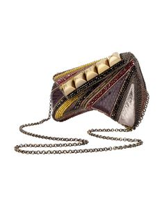 Python, Swarovski crystal and Suede 'Hector' Clutch Bag £1,690 by Bea Valdes at COUTURELAB