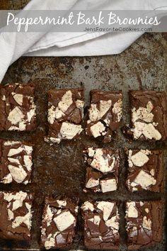 Peppermint Bark Brownies. Winning combo!
