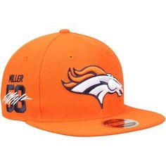Von Miller Denver Broncos New Era Signature Side 9FIFTY Adjustable Snapback Hat - Orange - $33.99