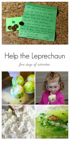 Help the Leprechaun Find His Gold: Five Days of Activities! from Fun at Home with Kids