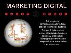 Diseño creado con la definición de Marketing Digital.