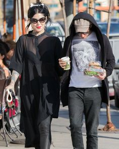 Kat Von D and a Friend Have Lunch in West Hollywood on February 17, 2014