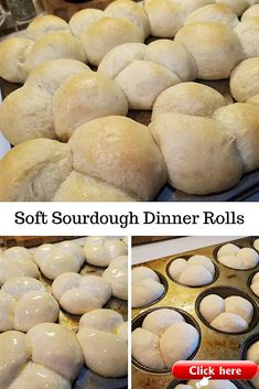 Soft Sourdough Rolls (do egg wash instead of butter) Dough Starter Recipe, Sourdough Starter Discard Recipe, Sourdough Recipes, Bread Recipes, Cooking Recipes, Sourdough Bagels, Starter Recipes, Sourdough Dinner Rolls, Dinner Rolls Recipe