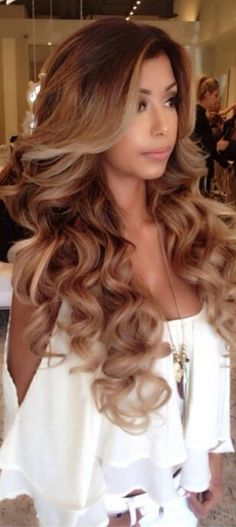 The Beauty Of Having Lovely Waves.  GET THE LOOK - Check usOut At www.ohhhadelle.com The Way To Beauty   ***style for my rose gold balayage color***