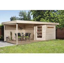 Lounge Haus weka Davos mit Fußboden und Lounge 601x298 cm natur
