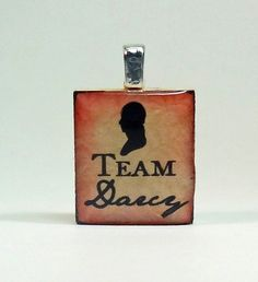 Jane Austen Pride and Prejudice Scrabble Tile Pendant by ModJules, $8.00