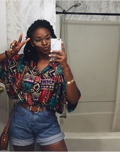 [Women's Fashion outfits black girl Girl Vintage Outfits, Retro Outfits, Mode Outfits, Girl Outfits, Casual Outfits, Fashion Outfits, Grunge Outfits, Black Girls Outfits, 90s Style Outfits
