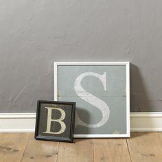 Ballard Designs Monogram Art - Small ($79) ❤ liked on Polyvore featuring home, home decor, wall art, word wall art, white wall art, ballard designs, typography wall art and monogram wall art