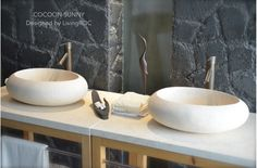 "19"" Oval Egyptian Marble Stone Vessel Sink - COCOON SUNNY"