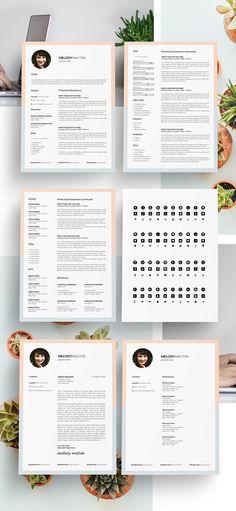 25 Fresh Free Professional Resume Templates - 19 cv Pinterest