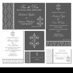 Elegant DIY Printable Wedding Invitation Set