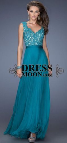 2015 prom dress, jade blue lace evening dress for teens, ball gown, lace formal dress #promdress #formal
