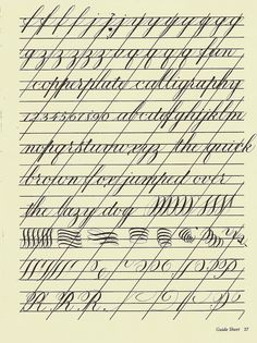 Copperplate Practice Sheet 2 | by carmelscribe