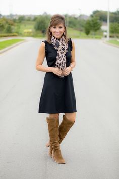 How To Style a Sleeveless Black Dress for Fall
