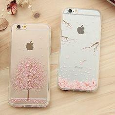 iPhone 6 / iPhone 6 Plus Cherry Blossom Print Transparent Case, Flower & Snow , One Size - Casei Colour Iphone 8, Cool Iphone Cases, Best Iphone, Cute Phone Cases, Coque Iphone, Iphone Price, Floral Iphone Case, Accessoires Iphone, Phone Gadgets