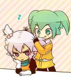 Tags: Anime, Pixiv Id 2160440, Inazuma Eleven GO, Inazuma Eleven GO Chrono Stone, Saryuu Evan, Fey Rune, Striped Background