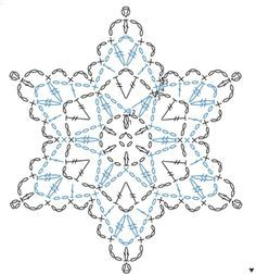 FREE DIAGRAM ~ crochet star - diagram.  Make a runner or just use them as details.