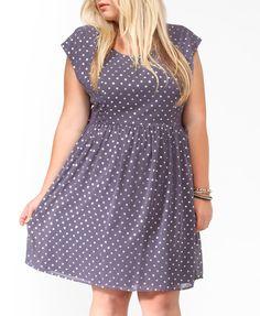 Metallic Dots Bow Back Dress | FOREVER21 PLUS - $24.80