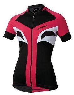 ETXEONDO Aroa Women's Short Sleeve Cycling Jersey Black/Rose #cyclegearclothing