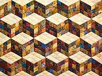 Nine Patch Tumbling Blocks Quilt