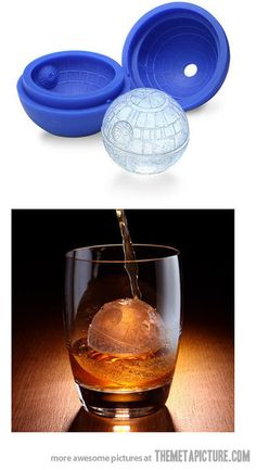 Ice Death Star Cubes… $10.99 http://www.amazon.com/Kotobukiya-Star-Wars-Death-Silicone/dp/B008D19K1S/ref=sr_1_1?ie=UTF8&qid=1380938565&sr=8-1&keywords=death+star+ice+sphere+mold