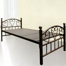 Modern Wrought Iron Heart Shaped Metal Frame Bed Sturdy Single Iron Bed Bedroom Latest Des Platform Bed With Storage Sofa Bed With Drawers Fabric Bed Frame