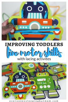 How to Practice Fine Motor Skills With Cute Lacing Activity - Everyone's Sleeping but Mom Baby Activites, Newborn Activities, Montessori Activities, Indoor Activities, Preschool Activities, Counting For Toddlers, Alphabet For Toddlers, Games For Toddlers, Montessori Toddler