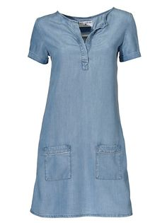 Best Connections by heine Šaty s kovovými vláknami na vreckách Outfit Jeans, Jeans Gown, Casual Chic, Casual Look, Skirt And Top Dress, Jacket Dress, Indian Fashion Dresses, African Fashion, Womens Denim Dress