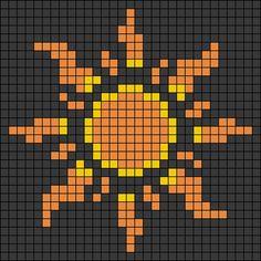 Melty Bead Patterns, Kandi Patterns, Alpha Patterns, Perler Patterns, Beading Patterns, Cross Stitch Art, Cross Stitching, Cross Stitch Embroidery, Cross Stitch Patterns