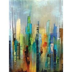 Portfolio 'Steel Rising' Large Printed Canvas Wall Art - Overstock™ Shopping - Top Rated Canvas